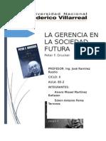 Trabajo La Gerencia en La Sociedad Futura- Peter Drucker