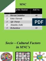 Batch 37- Socio Cultural Factors MNC Presentation
