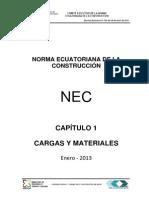 Nec Cap1 Cargas y Materiales