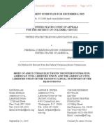Us Telecom v. Fcc Amicus Brief of Eff and Aclu