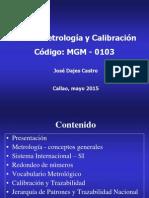 Curso Metrología y Calibración 2015