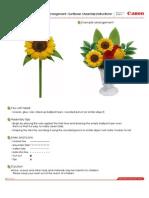 instrucciones girasoles hechas de papel