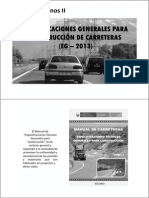 Especificaciones Generales Para Construcción de Carreteras