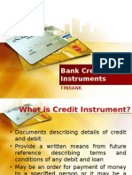 Bank Credit Instrument