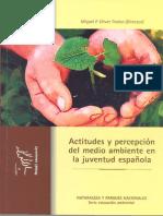 Actitudes y Percepción Del Medio Ambiente en La Juventud Española