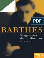 Fragmentos de Um Discurso Amoroso Roland Barthes