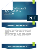 Good Governance Practices in a Hospital (1)