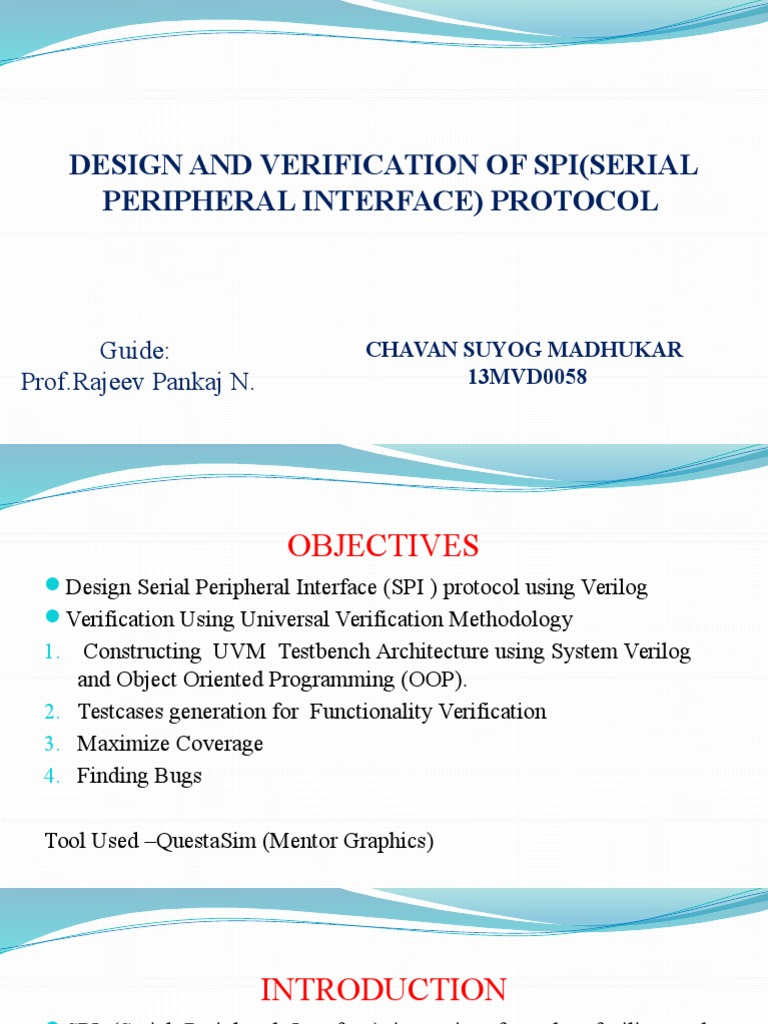 ppt on verification using uvm SPI protocol | Computer