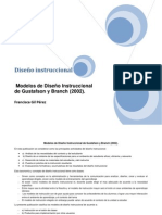 Cuadro Comparativo de Modelos de Diseño Instruccional.