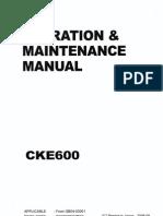 CKE600-1F (S2GB30003ZE06) Operator Manual