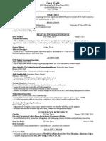 bnsf intern 2016 resume