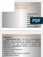 Legal & Ethical Factors of MNCs