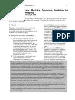 Procedure Guideline for FDG PET Brain Imaging