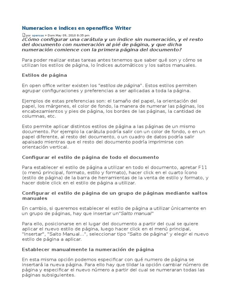 Numeracion e Indices Con Writer (1)