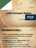 Lafal Sumpah Dokter Indonesia