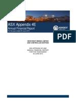 Annual Financial Report 30 June 2015 1