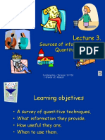Lecture 3. Sources of Information (II)
