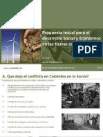 Propuesta inicial para el desarrollo Social y Económico en las tierras restituidas - Ecotechsy