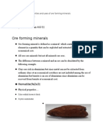 Ore Forming Minerals