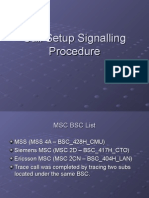 Call Setup Signalling Procedure