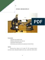 Studiul microscopului