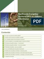 Planificación Energética Territorial (PET) en ciudades Colombianas