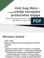 Pacifizam - Hrvatski bog Mars