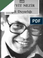 Seyyi̇t Nezi̇r - Şi̇li̇ Duyarliği - Broy Yayınları - 1986