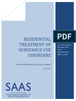 SAAS Consensus Report Residential Treatment 0413