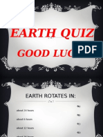 EARTH QUIZ 1-¦ ESO