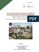 Programa VIII Jornadas de  AMECLM