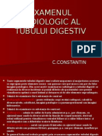 Examenul Radiologic Al Tubului Digestiv I