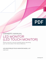 LG Commercial IPS Touch Monitor Owners Manual ENG US 23ET63V