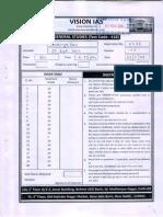 Topper Answer Booklet 2- General Studies ( Rank -16 , 2014 ) -Ananya Das