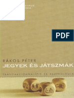 Rakos Peter Jegyek Es Jatszmak