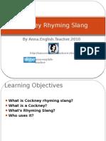Cockney Rhyming Slang 1