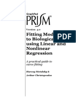 Fitting Models to Biological Data Using Linear and Nonlinear Regression