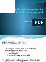 Asuhan Gizi Pada Wanita Hamil Dan Menyusui (1)