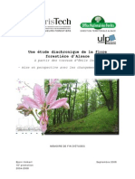 VOLKERT B. 2008 - Une Etude Diachronique de La Flore Fores Tie Re d Alsace a Partir Des Travaux d Emile Issler