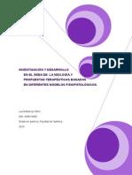 Memoria de Prácticas. Investigación y Desarrollo en El Area de La Miología.