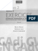 Exercices d'analyse syntaxique et textuelle - module 3