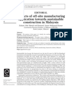 Aspects of off-site manufacturing