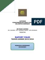 c.18 Contoh Cover Raport Paud Tk Kb Tpa