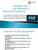 Mixing Qualitative and Quantitative Methods in Sports Fan