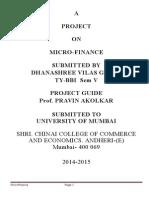 Micro Finance Project 1