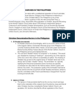 Churches in the Philippines Written Report(1)