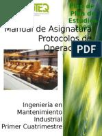 Manual de Protocolos de Operacion y Mantenimiento