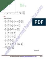 KVS Mathematics Olympiad Paper Solutions Regional Level Set 1