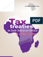 [New TJN-A report] Tax Treaties in Sub-Saharan Africa