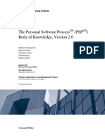 The Personal Software ProcessSM (PSPSM) Body Of
